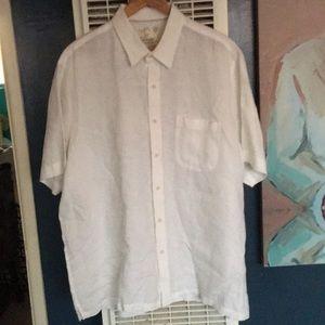 New No Tags Tasso Elba White Linen Shirt Size XL
